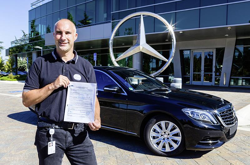Mercedes-Benz triedy S získalo povolenie na autonómnu jazdu po kalifornských cestách priamo v Silicon Valley. Foto: Mercedes-Benz