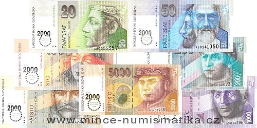 slovenske bankovky koruna