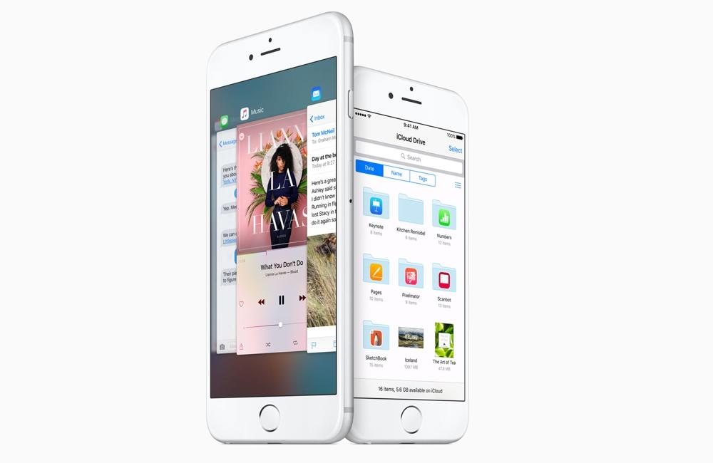 """Apple iPhone 6s Plus a 6s. Väčší displej má 5,5"""", menší 4,7"""" a nižšie rozlíšenie."""