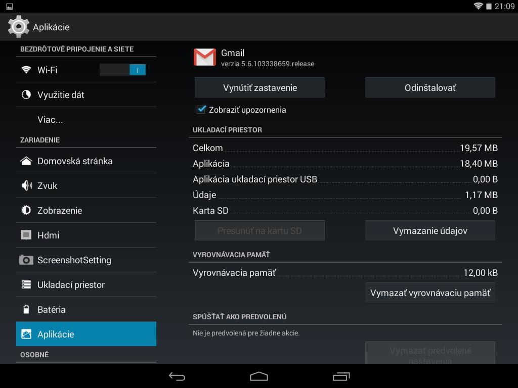 Gmail sa na SD kartu premiestniť nedá, ale mnohé iné aplikácie áno.