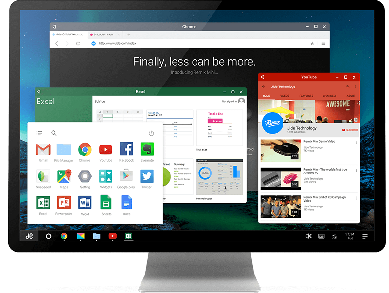 Remix OS bežiaci na Android Lollipop