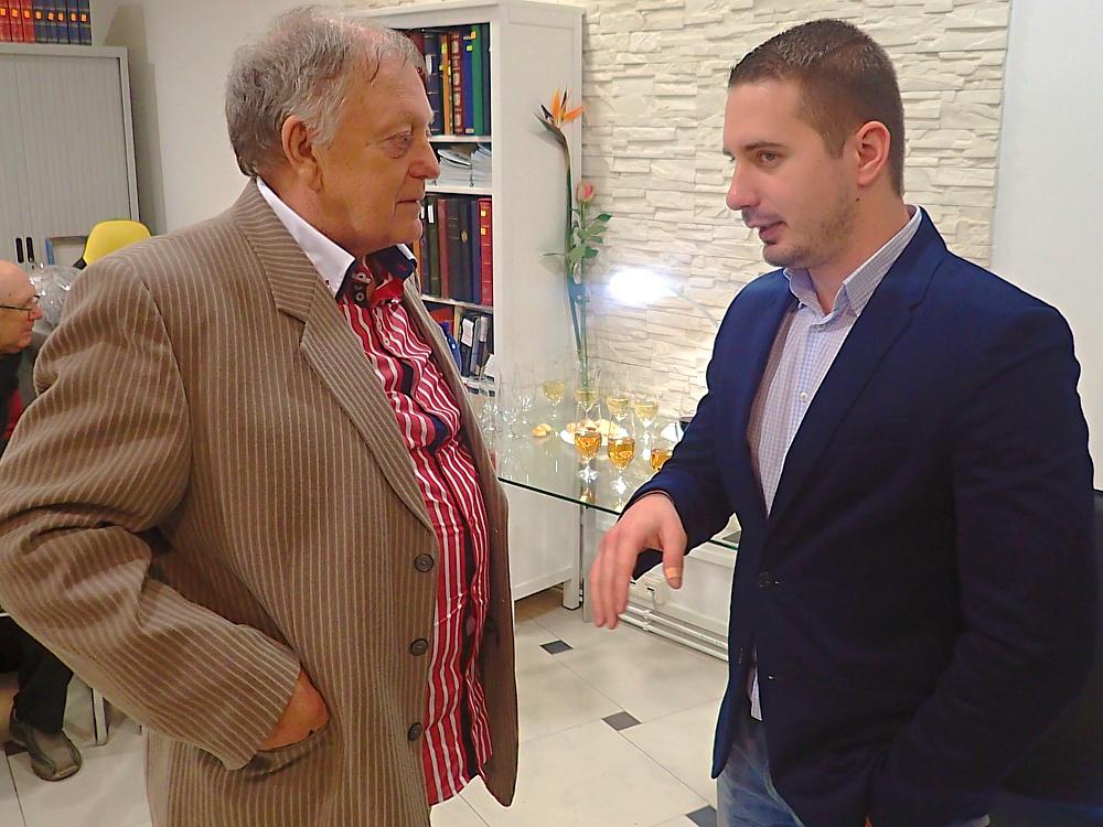 Robert Almási a Erik Stríž, autor rozhovoru (foto: izakaja.sk)