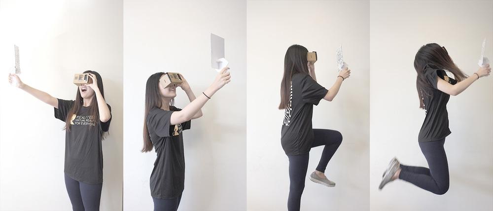Stačí mobil, VR headset a vytlačený RealTrigger.