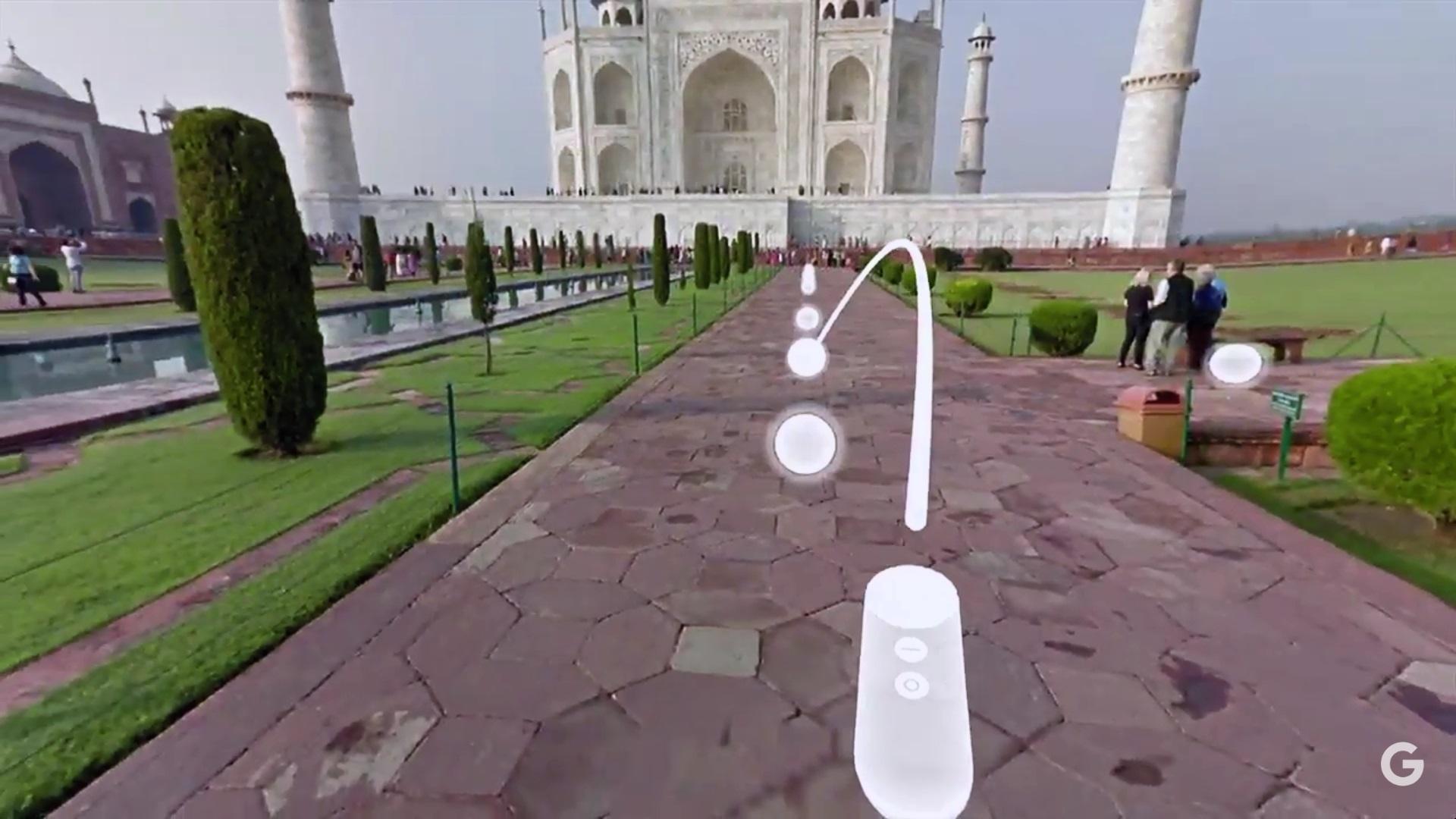 Gyroskopický ovládač s dvomi tlačidlami. Virtuálna realita Daydream od Google