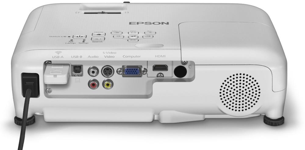 Analógová a digitálna konektivita. Cenovo dostupný projektor Epson EB-S04