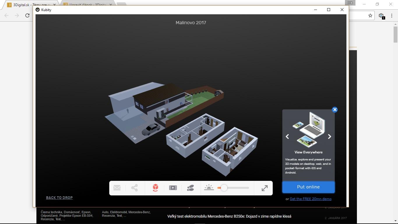 Aplikácia KUBITY umožňuje prevod 3D objektov a prostredí do virtuálnej reality.